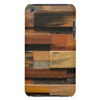 Collage en bois texturisé multicolore étui barely there iPod