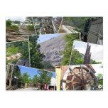Collage en pierre de montagne, montagne en pierre, cartes postales