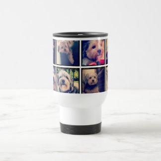 Collage fait sur commande de photo avec les photos mug de voyage