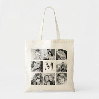Collage fait sur commande de photo de monogramme sacs de toile