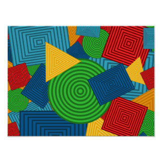 Collage géométrique de formes (couleurs poster