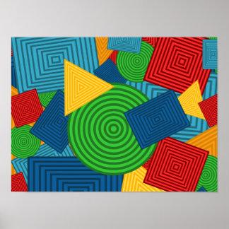Collage géométrique de formes (couleurs posters