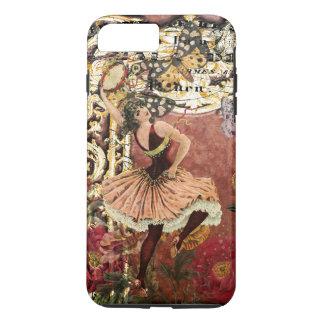 Collage gitan rose de Français de danseur de cru Coque iPhone 7 Plus