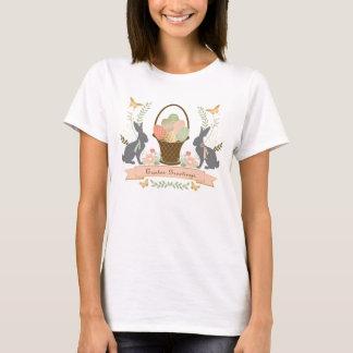 Collage graphique vintage moderne de Pâques T-shirt
