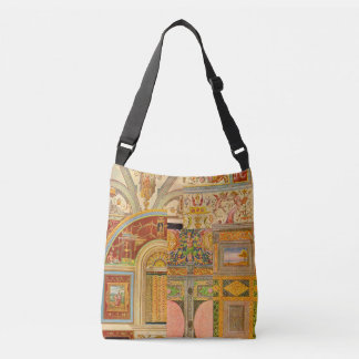 collage italien baroque de motifs sac ajustable