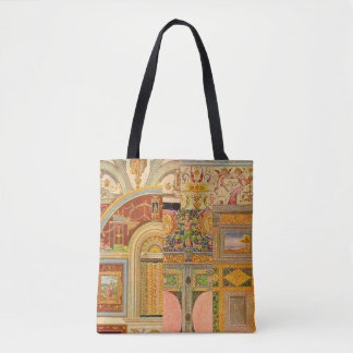 collage italien baroque de motifs tote bag