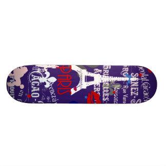 Collage noir français moderne de Paris Skateboard 19,7 Cm