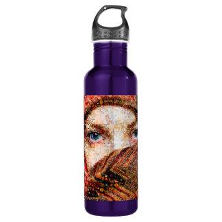 Collage-oeil-fille bédouine de fille-oeil de bouteille d'eau en acier inoxydable