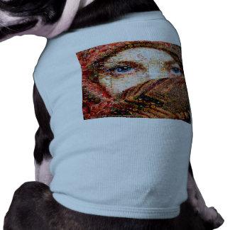 Collage-oeil-fille bédouine de fille-oeil de t-shirt pour chien