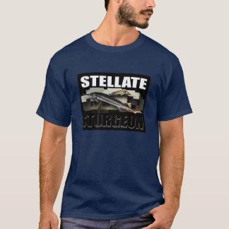 Collage radié T d'esturgeon - avec le NOM T-shirt