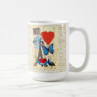 Collage romantique de Paris Mug
