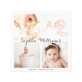 Collage simple et moderne de crèche de bébé de toile