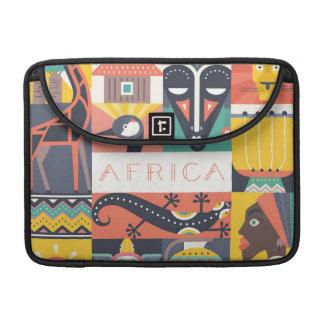 Collage symbolique africain d'art housse pour macbook