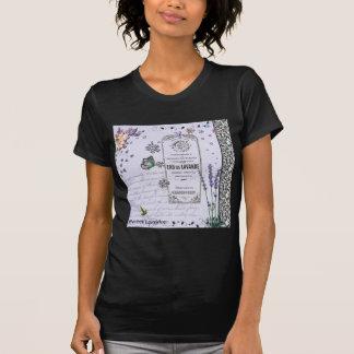 Collage vintage de lavande t-shirt