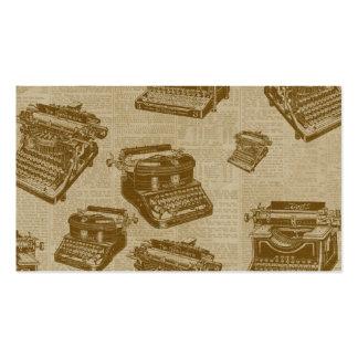 Collage vintage de machine à écrire modèle de carte de visite