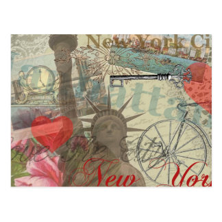 Collage vintage de New York City Cartes Postales