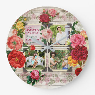 Collage vintage de photo d'Instagram de roses du Grande Horloge Ronde