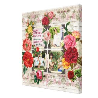Collage vintage de photo d'Instagram de roses du Toiles