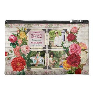 Collage vintage de photo d'Instagram de roses du Trousse De Voyage