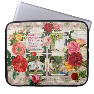 Collage vintage de photo d'Instagram de roses du Trousse Pour Ordinateur Portable
