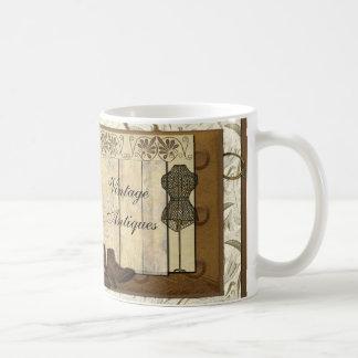 Collage vintage de Steampunk Mug Blanc