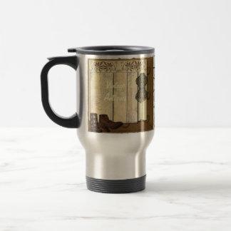 Collage vintage de Steampunk Mug De Voyage En Acier Inoxydable