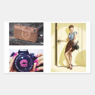 Colle de Caméras Sticker Rectangulaire