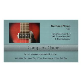Collecte rouge de guitare de HollowBody Carte De Visite Standard