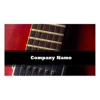 Collecte rouge de guitare de HollowBody de cou Carte De Visite Standard