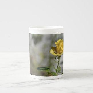 Collection 2 de tasse de porcelaine de roseraie de