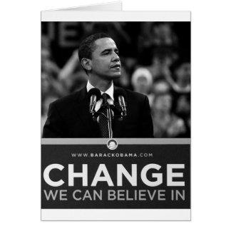 Collection de Barak Obama Carte De Vœux
