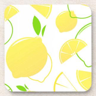 Collection de concepteurs avec des citrons dessous-de-verre