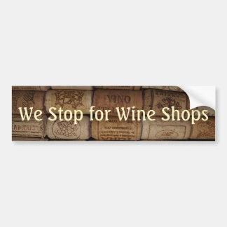 Collection de liège de vin autocollant de voiture