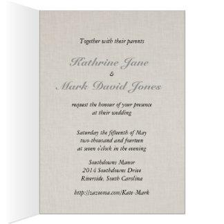 Collection de mariage de lavande de SmartElegance Carte De Vœux