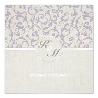 Collection de mariage de lavande de SmartElegance Carton D'invitation 13,33 Cm