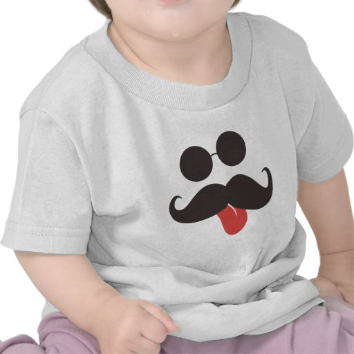 Collection de moustache t-shirts