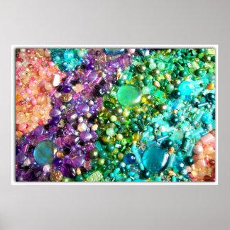 Collection de perles colorées poster