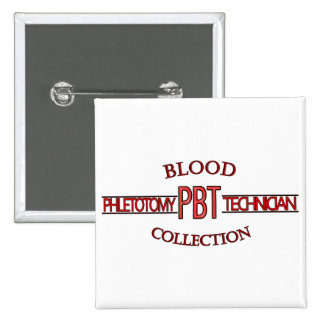 COLLECTION DE SANG DE TECH DE PHLEBOTOMY DU BADGE CARRÉ 5 CM