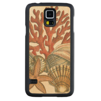 Collection de vie marine coque slim galaxy s5 en érable