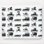 Collection de vieilles et classiques voitures tapis de souris