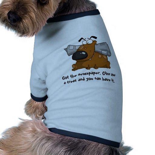 Collection drôle de chien t-shirt pour animal domestique