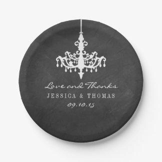 Collection élégante de mariage de tableau de assiettes en papier