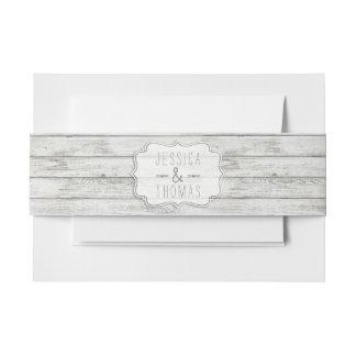 Collection en bois blanchie nautique de mariage de bandeaux de faire-part