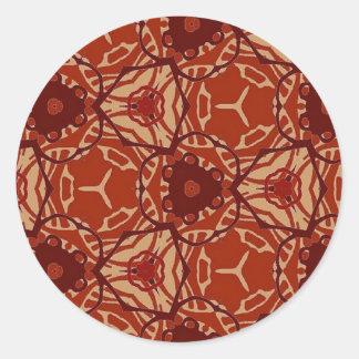 Collection géométrique de motif de tissu autocollants ronds