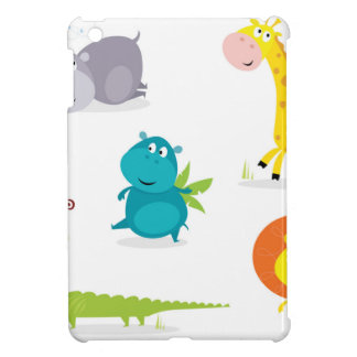 Collection illustrée tirée par la main d'animaux coques iPad mini