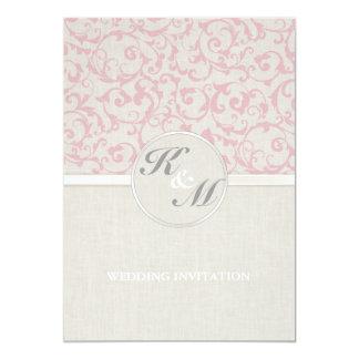 Collection rose de mariage de SmartElegance Carton D'invitation 12,7 Cm X 17,78 Cm