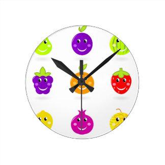 Collection tirée par la main extraordinaire de horloge ronde