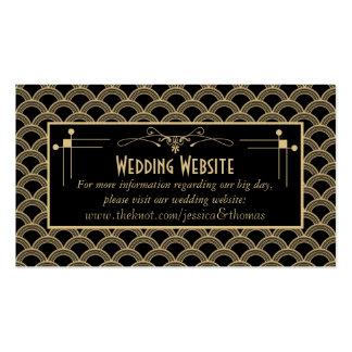 Collection vintage de mariage de Gatsby d'art déco Carte De Visite Standard
