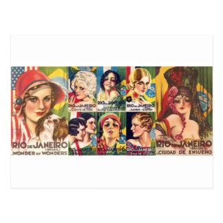 Collection vintage de Rio de Janeiro Carte Postale