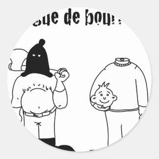Collègue de Bourreau (Francois Ville & Gdb Gdblog) Sticker Rond